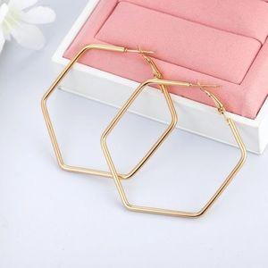 Jewelry - Hexagon Earrings ✨